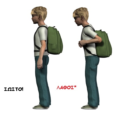 child back pain backpack